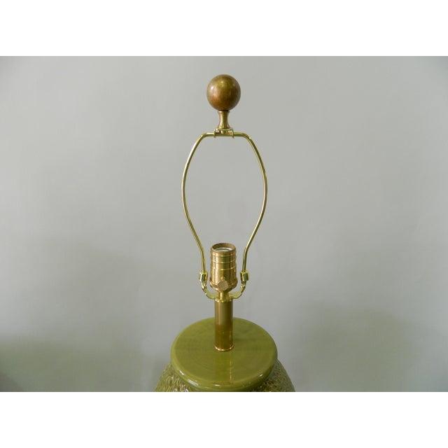 Green Tuscan Ceramic Table Lamp - Image 3 of 4