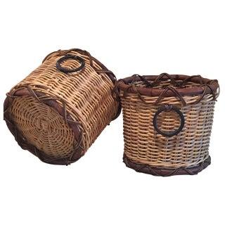 Rattan Baskets - A Pair
