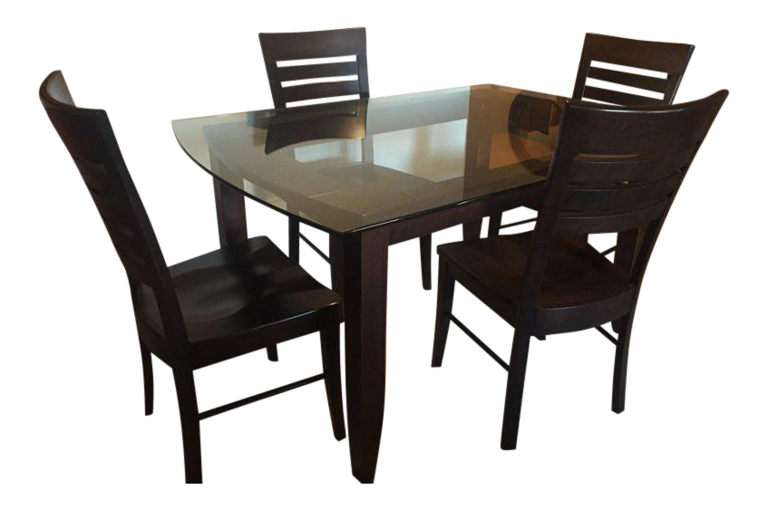 Solid Wood Dining Set   4 Chairs Part 87