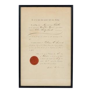 US Consular Agent in Switzerland 1866 Document