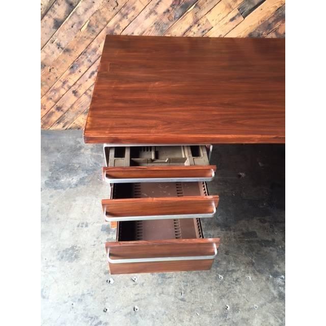 Vintage Cantilevered Executive Desk - Image 9 of 11