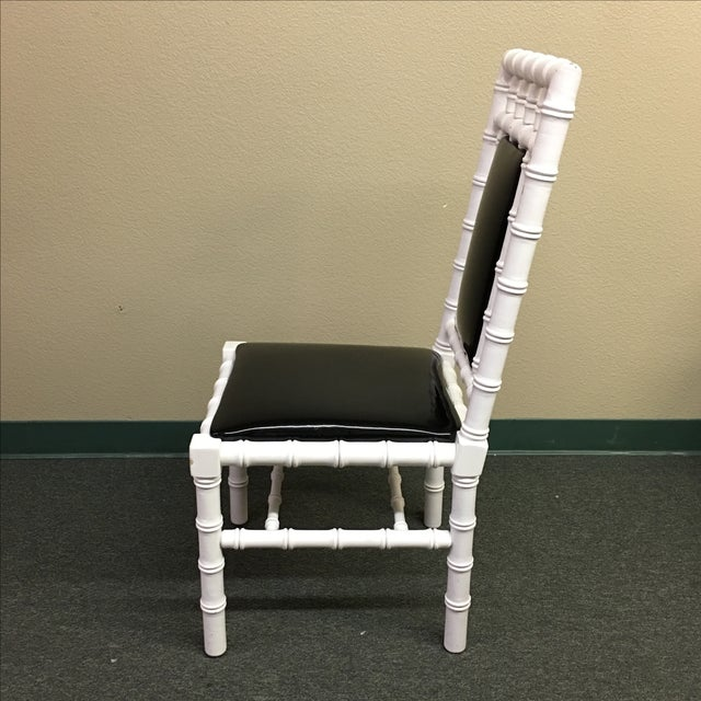 Image of Palm Beach-Style Bamboo Chairs- Set of 4