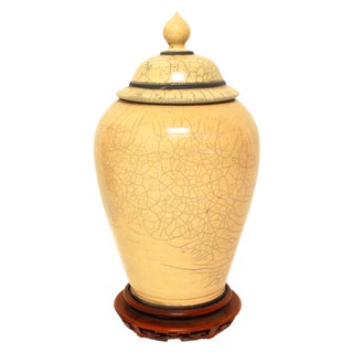 Large Asian Ginger Jar with Stand