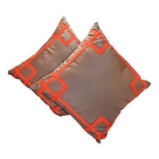 Beth Lacefield Designer Fretwork Pillows - a Pair