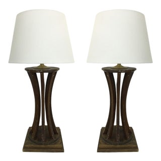 Wood Form Lamps - a Pair