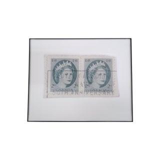 Reproduced Vintage Stamp of Queen Elizabeth II