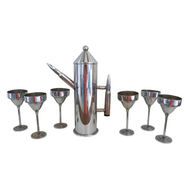 Image of Art Deco Artillary Bullet Cocktail Set - Set of 7