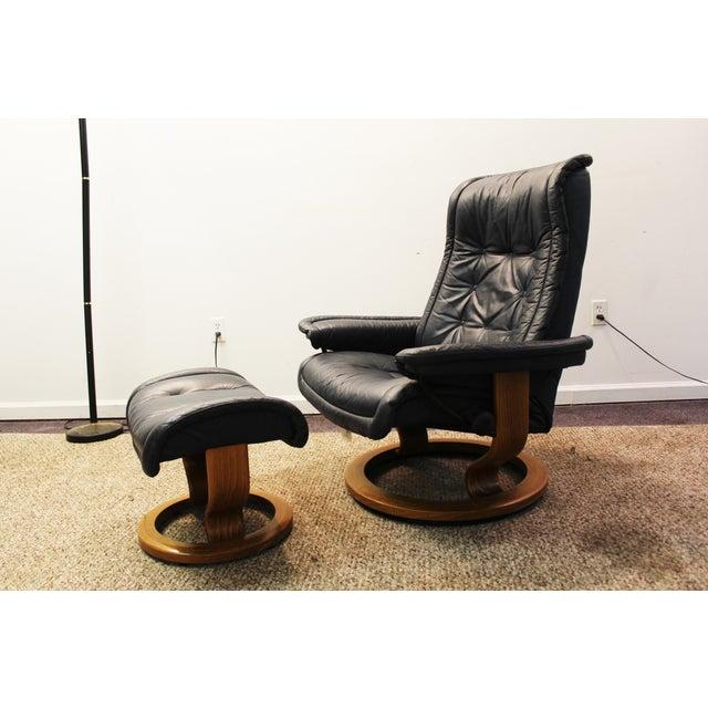 Image of Mid Century Ekornes Stressless Recliner Chair