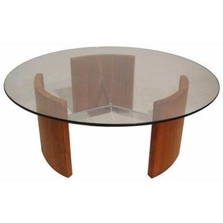 """Vladimir Kagan """"Radius"""" Walnut & Steel Table"""
