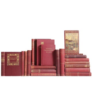 Gilded Claret Pocket-Sized Book Mix - Set of 20