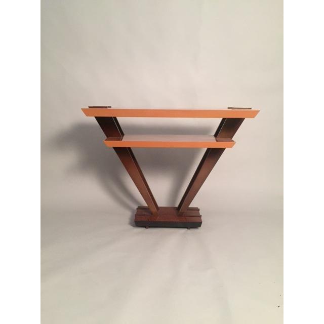 Leavitt Weaver Deco Burl Wood Console - Image 7 of 8