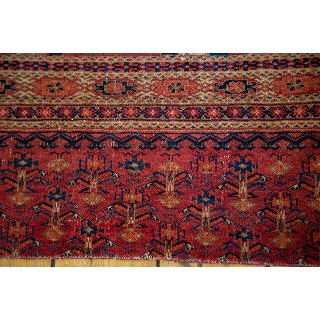 "Antique Turkmen Tent Cover Rug - 2'7"" X 4'10"" - Image 4 of 8"