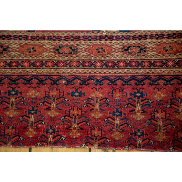 "Image of Antique Turkmen Tent Cover Rug - 2'7"" X 4'10"""