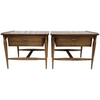 Mid-Century Floating Drawer Nightstands - A Pair