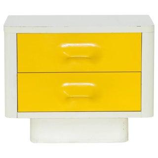 Broyhill Premiere Mid-Century White & Yellow Nightstand
