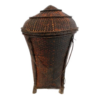 Woven Storage Basket with Lid