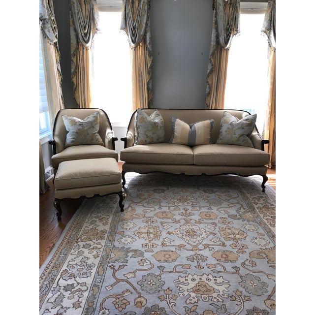 Century Furniture Chair & Ottoman With Floral Pillow - a Pair - Image 8 of 10