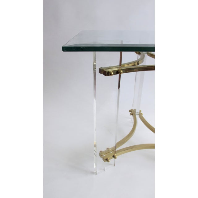Mid-Century Charles Hollis Jones Lucite Side Table - Image 5 of 6