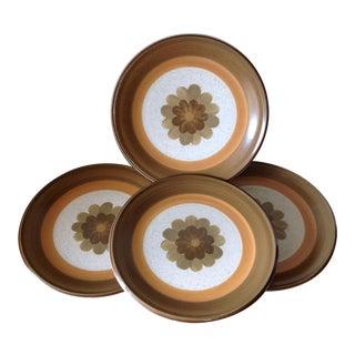 Mid-Century Stoneware Ceramic Plates - Set of Four