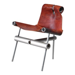 Max Gottschalk prototype leather sling chair, USA, 1960s