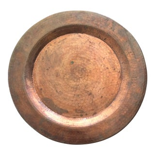 Solid Hammered Copper Tray