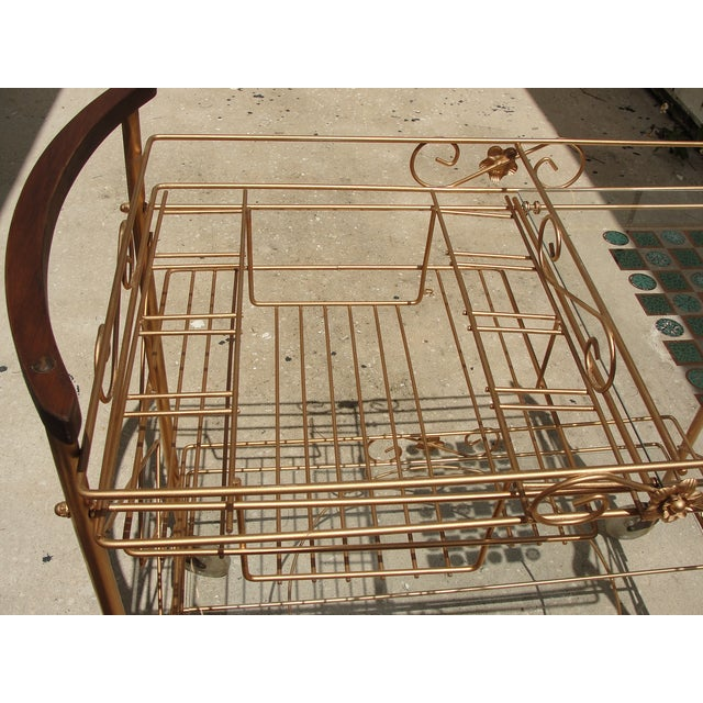 1950s Atomic-Style Rolling Bar Cart - Image 6 of 10