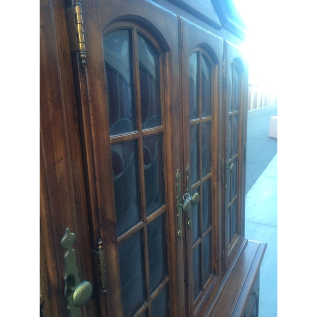 Burlington House Solid Wood Buffet with Hutch - Image 3 of 8