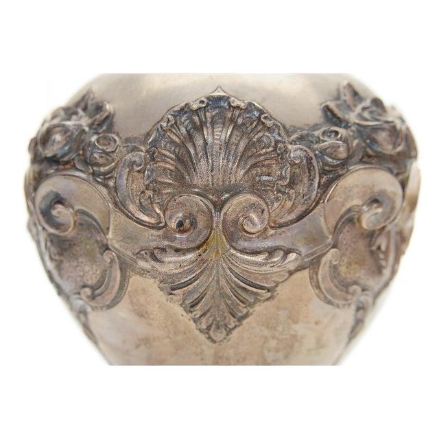 Topazio 19th Century Silver Repousse Vase - Image 5 of 8