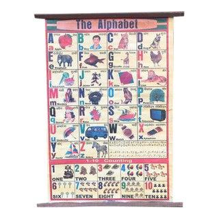 Vintage Indian Alphabet Poster