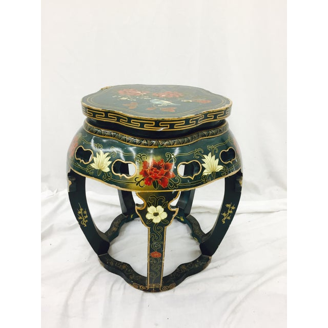 Vintage Asian Lacquered Side Table - Image 3 of 8