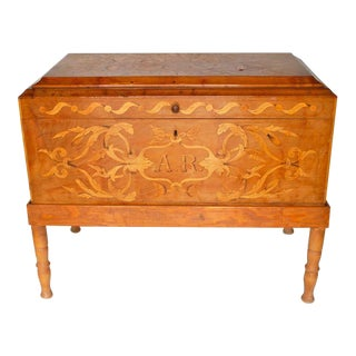 19th Century Mexican Marquetry Chest