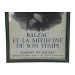Image of 1979 French Balzac Framed Poster