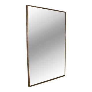 A Creused Oak Framed Mirror