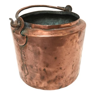 Vintage Rustic Copper Pot With Handle