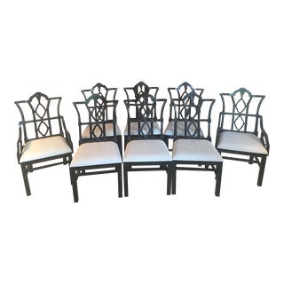 Noir Emperor Dining Chairs - Set of 8