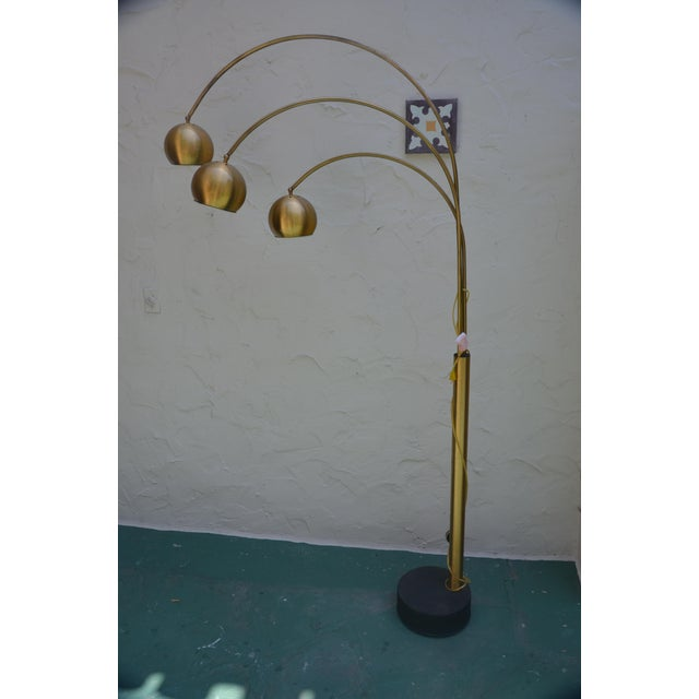 Mid Century Orb Lamp: Mid-Century Modern Gold Orb Swivel Floor Lamp