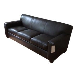 Crate & Barrel Pewter Leather Couch