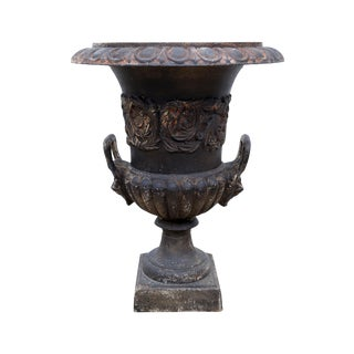 Antique European Iron Urn
