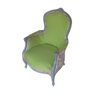 Custom Vintage Bergere Chair