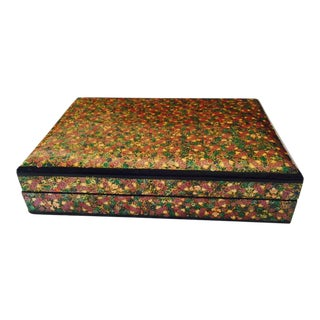 Floral Motif Enamel Box