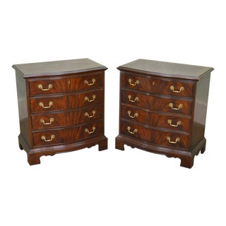 Drexel Heritage Heirlooms Flame Mahogany Pair of Chests Nightstands