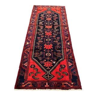 Vintage Persian Zanjan Runner - 3′2″ × 8′1″
