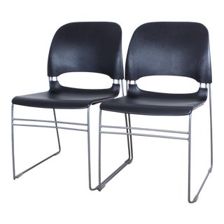 Tom Newhouse for Herman Miller Limerick Stacking Chairs - A Pair