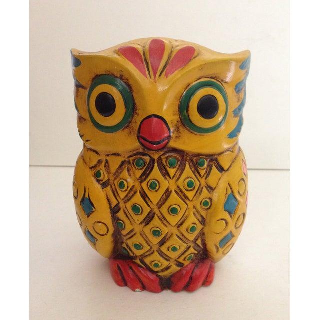 1960s Folk-Style Owl Bank - Image 2 of 8