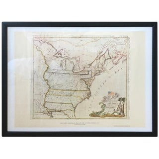 """Vintage 1950's """"The First American Map of the United States 1784"""""""