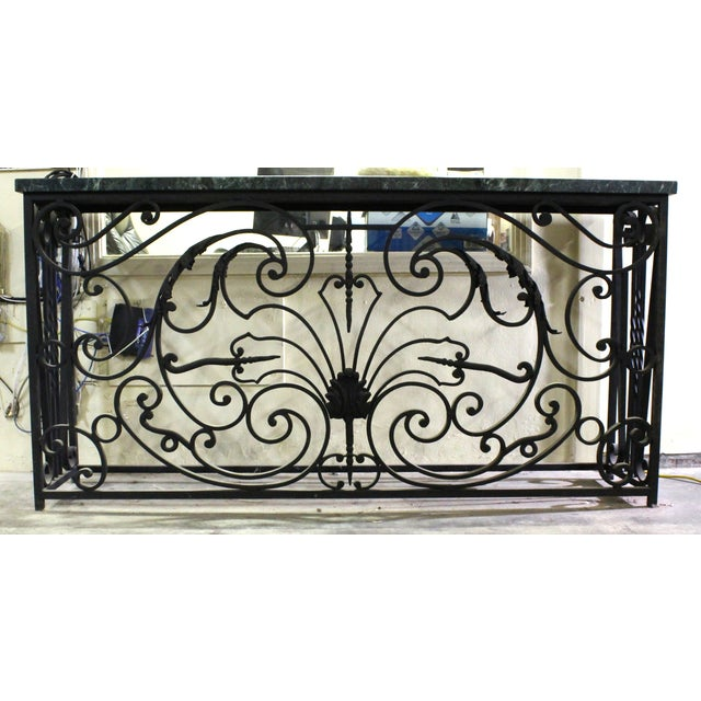 Reclaimed french parisian ironwork balcony console chairish for Balcony console