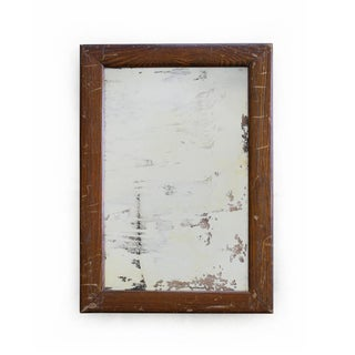 Vintage Faux Wood Grain Metal Mirror