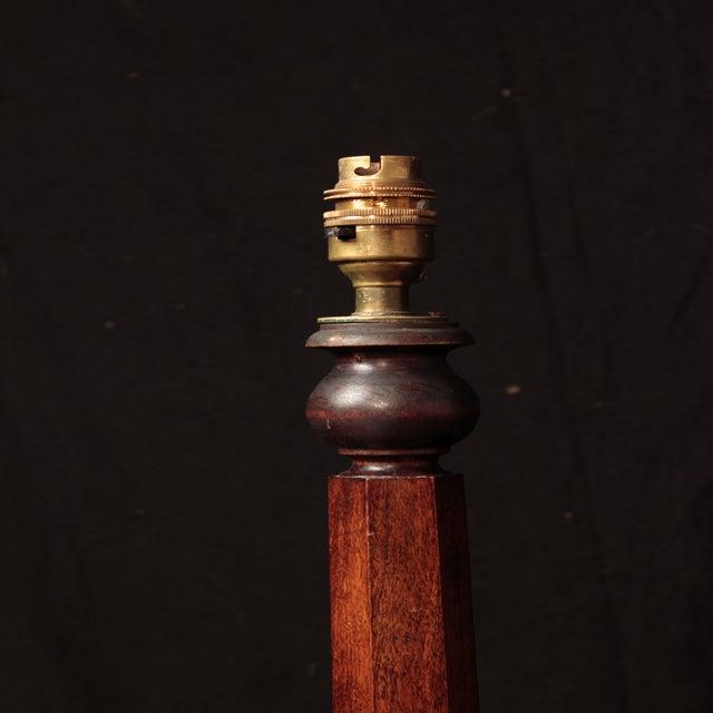 Image of 19th Century Mahogany Octagon-Base Floor Lamp
