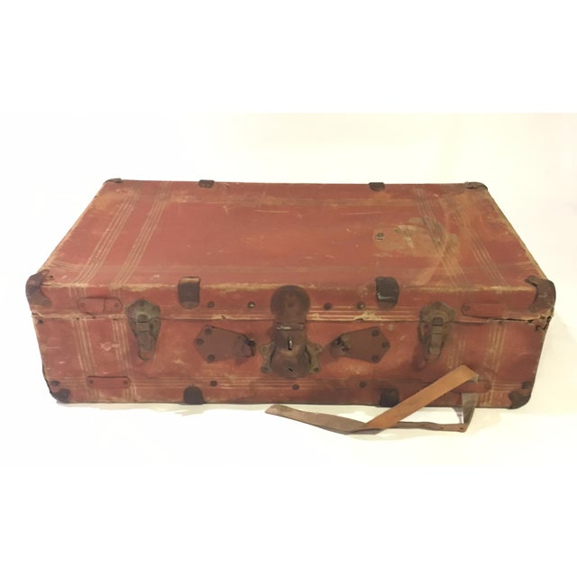 Vintage Leather Suitcase - Image 2 of 4
