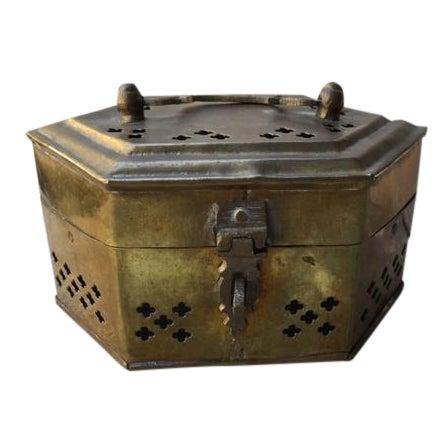 Hexagonal Brass Cricket Box - Image 1 of 8